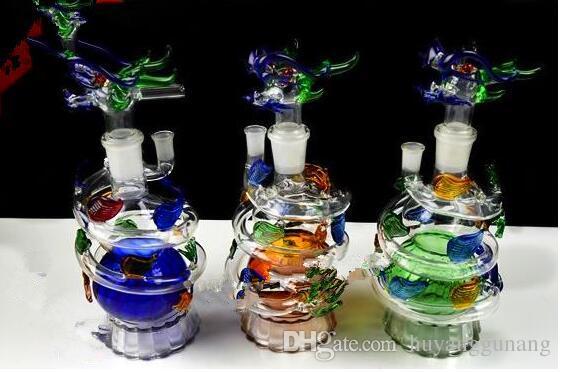 Dragon spirale narguilé en gros bongs en verre brûleur à l'huile en verre d'eau tuyaux d'huile
