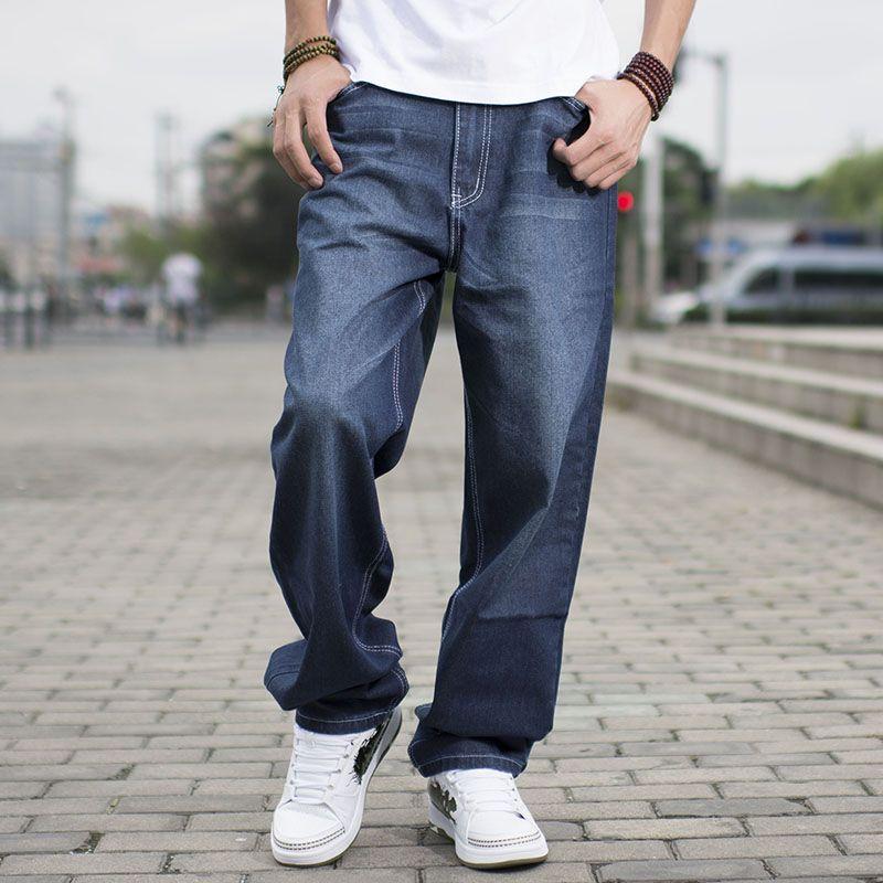 c42e65d8 2019 Hip Hop Skateboard Relaxed Brand Men Big Baggy Jeans Teen Boys Jeans  Long Loose Fit Mens Harem Pants Plus Size 40 42 44 46 From Sadlyric, ...