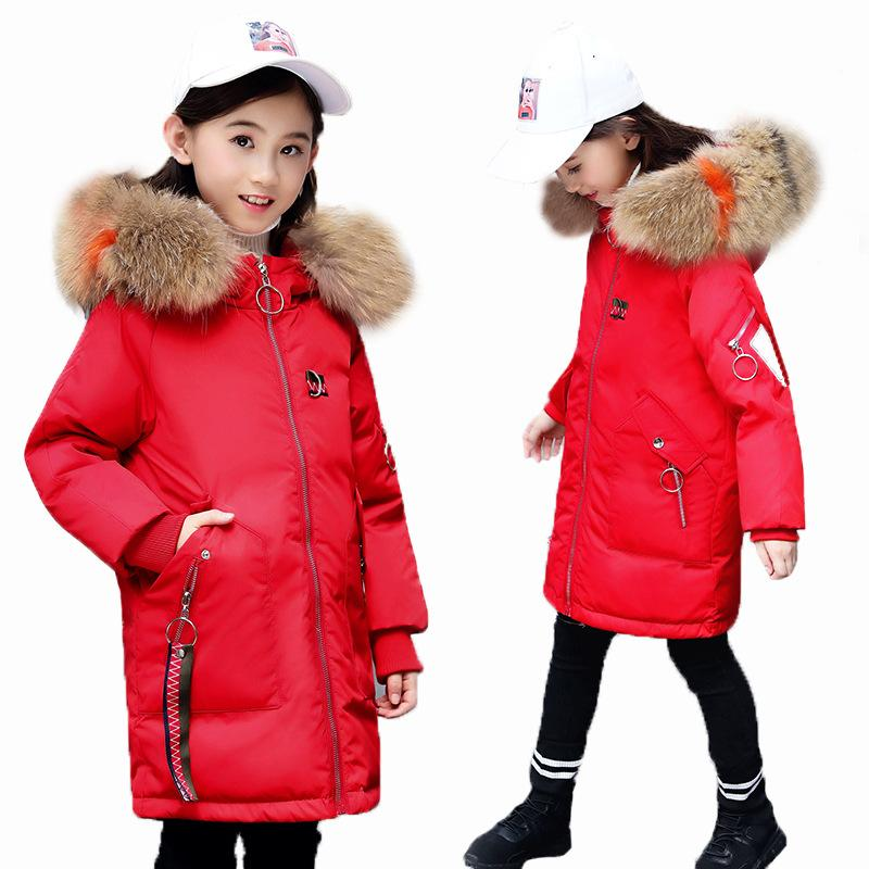 ae2fc06e3f6f 2018 Girls Winter Coat Warm Baby Girl Outerwear Coat Kids Clothes Children  Clothing Down Jacket For Teen Girl Black 8 10 14 Year Navy Coats For Girls  Girl ...