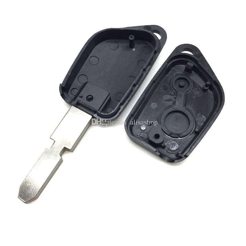 Replacement Remote Car Key Shell Fob For Citroen c4 c3 Saxo Xsara Picasso For Peugeot 405 2 Buttons 206 Blade Blank Key