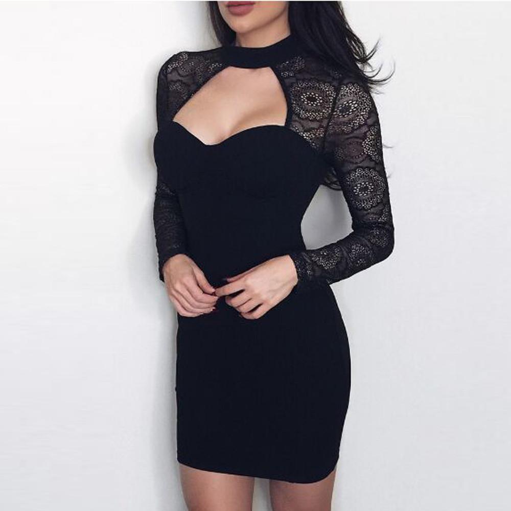 b42507223d30 Fashion Womens Party Long Sleeve Lace Mini Dress 2019 summer sexy Dress  women dress for women women's dresses in big sizes