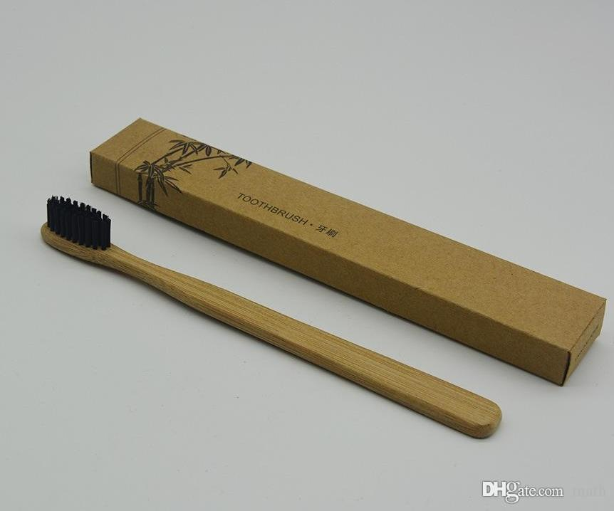 Personalized Bamboo Toothbrushes Tongue Cleaner Denture Teeth Travel Kit Tooth Brush MADE IN CHINA