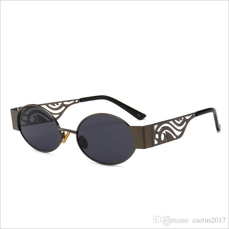 8b50a36576 Hollow Metal Frame Sunglasses Women Oval 2019 Unisex Men Round Sun Glasses  Steampunk Uv400 Gold Black Red Sunglasses Shop Bolle Sunglasses From  Cactus2017