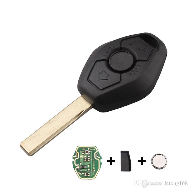 3Buttons 433/315Mhz Car Remote Key Fob For BMW E46 E38 3 5 7 Series EWS  System Car Key HU92 Blade Transmitter Chip ID44