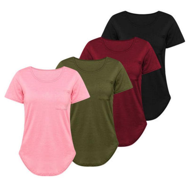 3cc9e9f03 High Quality S XXL Plain T Shirt Women Cotton Elastic Basic Tshirt Woman  Casual Tops Short Sleeve T Shirt Women Plus Size Ladies Shirt Tee Shirts  Online ...