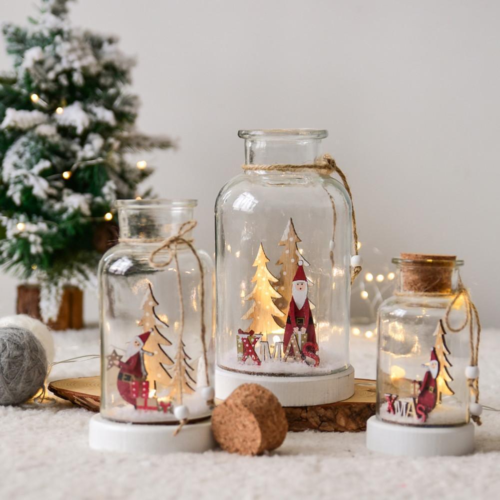 Led Christmas Tree Glass Hanging Ornament Window Decoration Christmas Gift Christmas Door Decoration