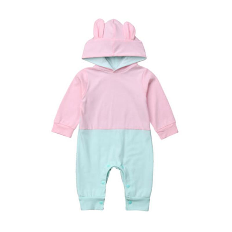 1fd174393 Cute Newborn Infant Baby Girl Boy Hooded Romper Jumpsuit Long Sleeve ...