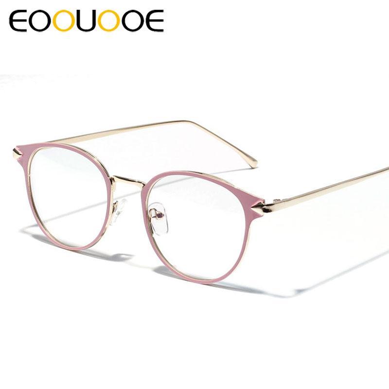 121fb50c2 Compre EOOUOOE Mulheres Óculos De Armação Do Vintage Miopia Óculos De  Armações De Óculos Ópticos Claro Rosa Espetáculo Oculos De Grau Feminino  3204 De Buete ...