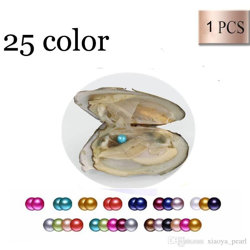 2018 Oyster Pearl 6-7mm 25 mix Renk tatlısu Doğal inci Hediye DIY Takı süslemeler Vakum Paketleme Toptan ücretsiz nakliye