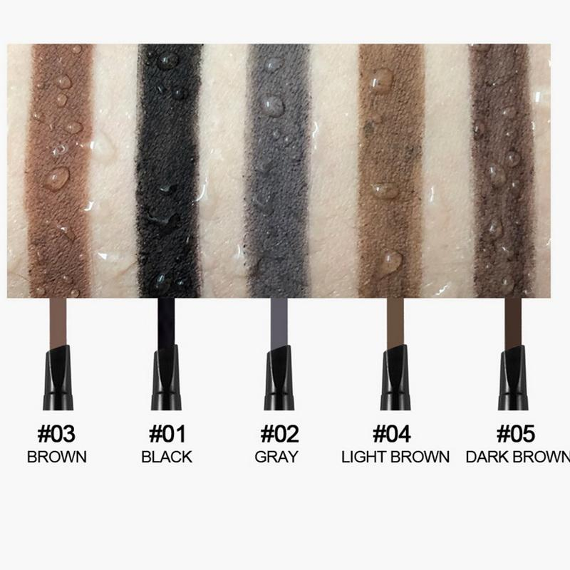 Handaiyan Eyebrow Pencil Waterproof Microblading Pen Crayon Black