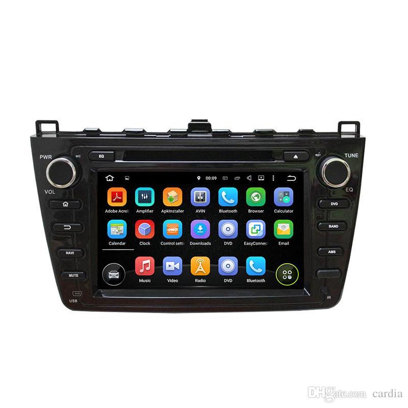Lecteur DVD de voiture 8inch Octa-core Andriod 8.0 pour Mazda6 Ruiyi 2008-2012 avec 4 Go de RAM, GPS, commande au volant, Bluetooth, radio