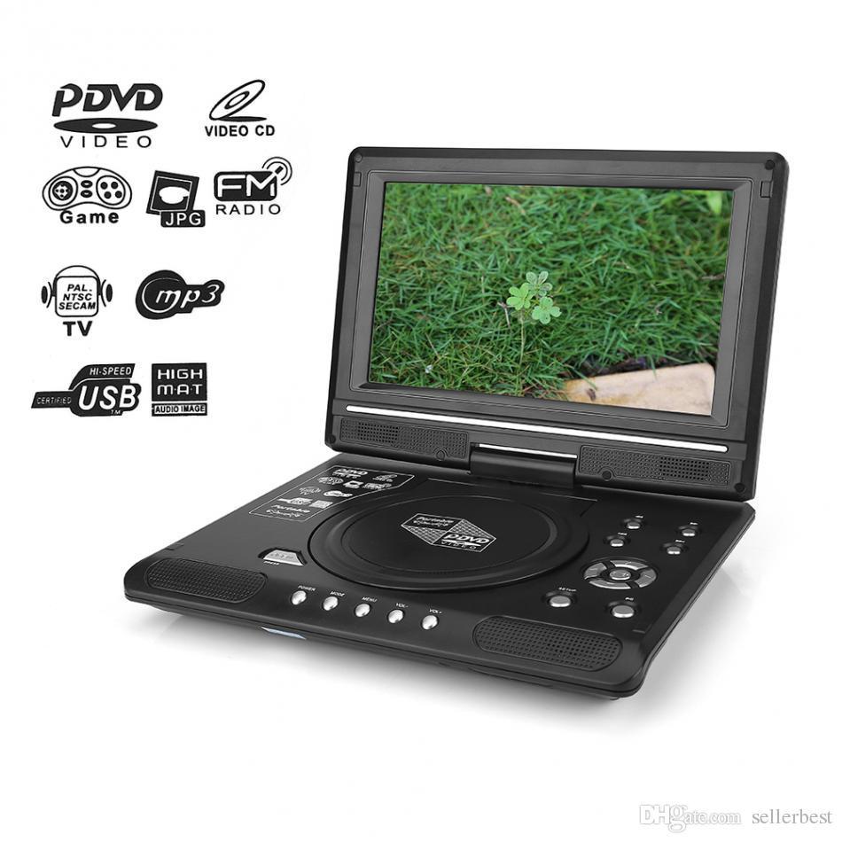 Portátil de 9.8 pulgadas Pantalla LCD HD Reproductor de DVD Compatibilidad con juegos Reproductor de TV para coche Receptor de radio FM Tarjeta SD / MS / MMC con enchufe US / EU / UK