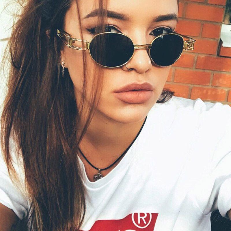 aa59f4492514f Vintage Steampunk Oval Sunglasses Women Retro Small Round Sun Glasses Brand  Designer Unisex Hip Hop Gold Shades Eyewear UV400 John Lennon Sunglasses  Wiley X ...