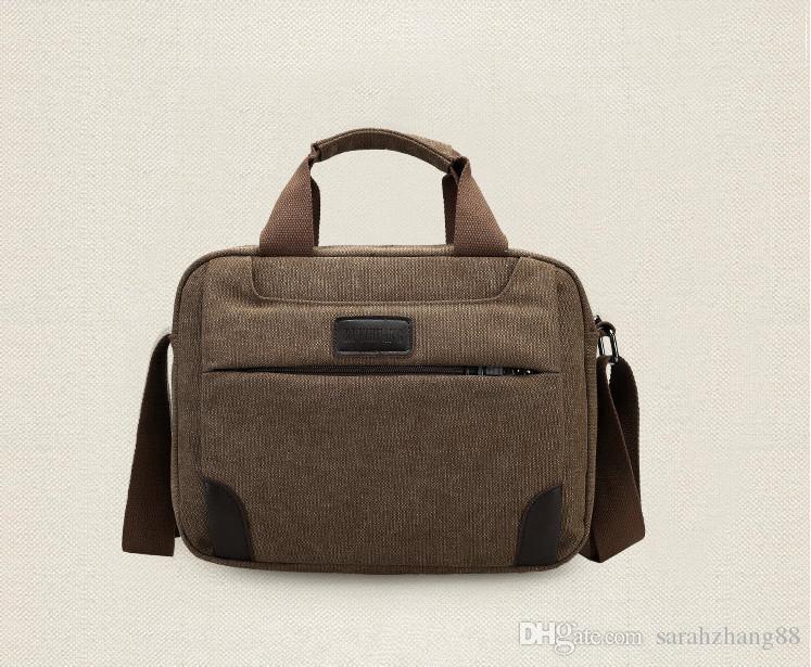b8631748518c Men'S Vintage Canvas Shoulder Bag Messager Bag Casual Tote Bags , Large  Capacity Handbag Ipad / Laptop Bag Best Messenger Bags Handbags Brands From  ...