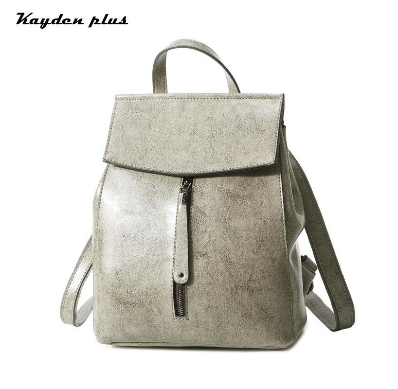 9be65f6c56 Women S Cow Leather Anti Theft Backpack Korean Style Lady Travel Bag Zipper  Buckle Shoulder Bag Small Woman Back Pack 2018 New Cute Backpacks Hiking ...