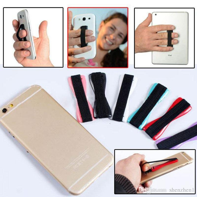 in stock elastic band stuck to mobile phone & strap Touch Holder Finger Ring handle device sling grip For Smart Phone,Mobile phone STY059