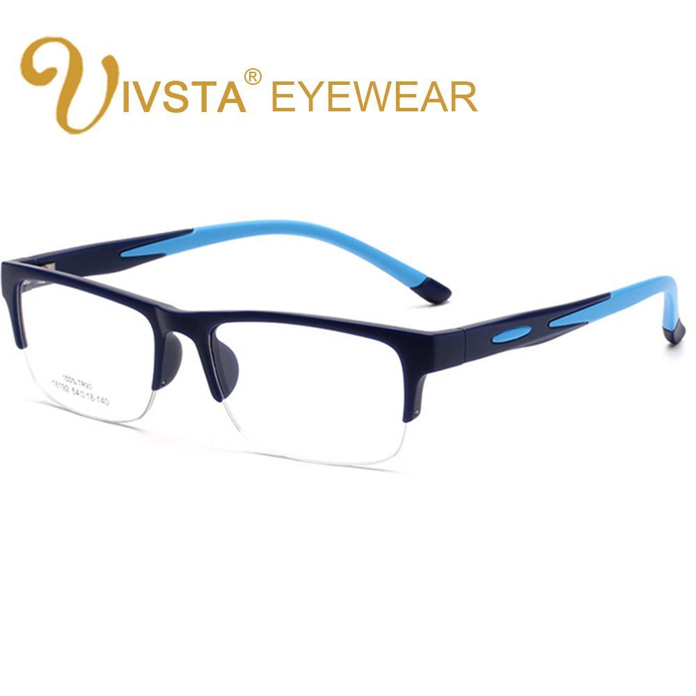 2e9c48f243e 2019 IVSTA TR90 Men Glasses Cyele Half Rim Eyeglasses Frame Flexbile  Silicone Optical Frame Football Goggle Prescription Lenses From Bojiban