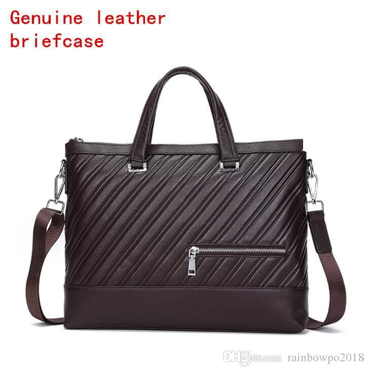 Factory Independent Brand Men Bag Fashion Stripes Men Handbag Leather  Business Briefcase Trend Cowhide Embossing Computer Bag Briefcases For Men  Leather ... 8ecb0d4784370