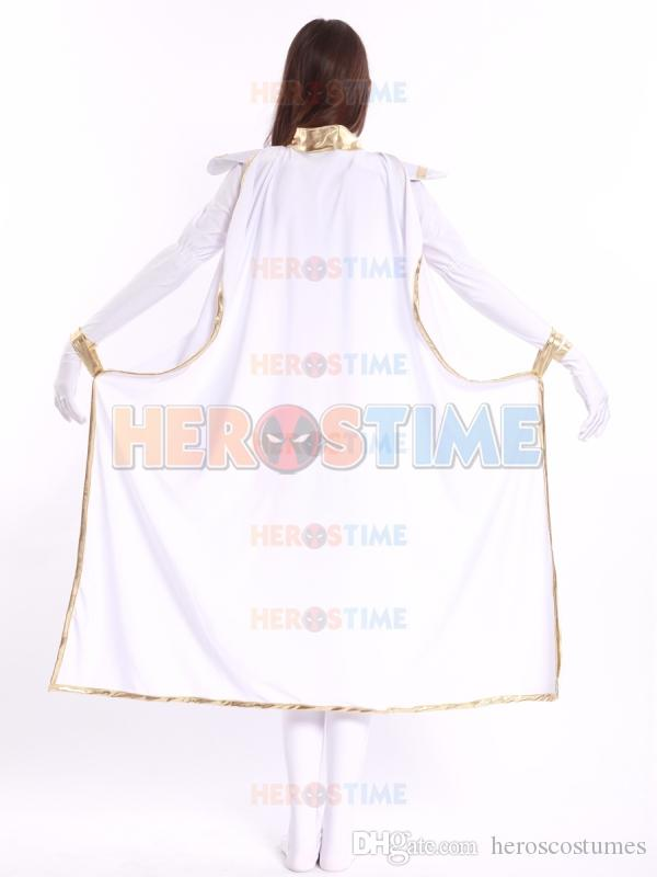 White Storm Woman Lycra Spandex Superhero Costume Woman Costume for Cosplay
