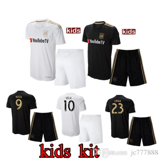 2a955ab89 2019 Kids Kits 18 19 Los Angeles Fc Carlos Vela LAFC Soccer Jerseys ...