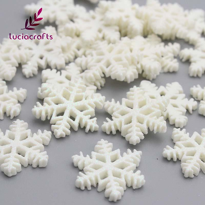 lucia crafts 2 1cm christmas snowflake cabochon flatback hanging ornament diy decorations accessories crafts 058001006 victorian christmas decorations