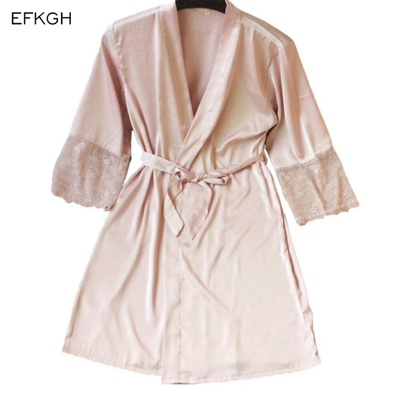 2019 Summer Dress Silk Robe Women S Pajamas Sexy Bathrobe Dressing Gowns  For Women Sleep Lingerie Pajamas Night Bathrobes Sleepwear From Lucycloth 4dbeb2151