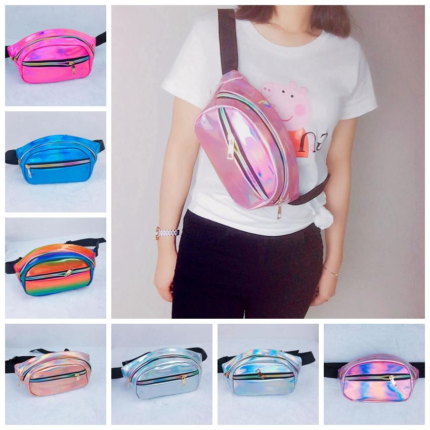 ebbc429e42c3 7colors Women Laser Bum Bag Travel Beach Shiny Small Waist Bags Sport Hip  Handbag Fashion Waterproof Hologram Chest Bags GGA793