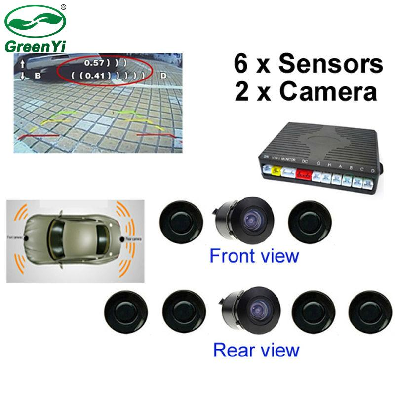 f6987fe5a3b 2019 GreenYi Dual Channel Car Video Parking Reverse Radar System 6 Sensor  With Front View Camera And Rear View Camera From Pubao