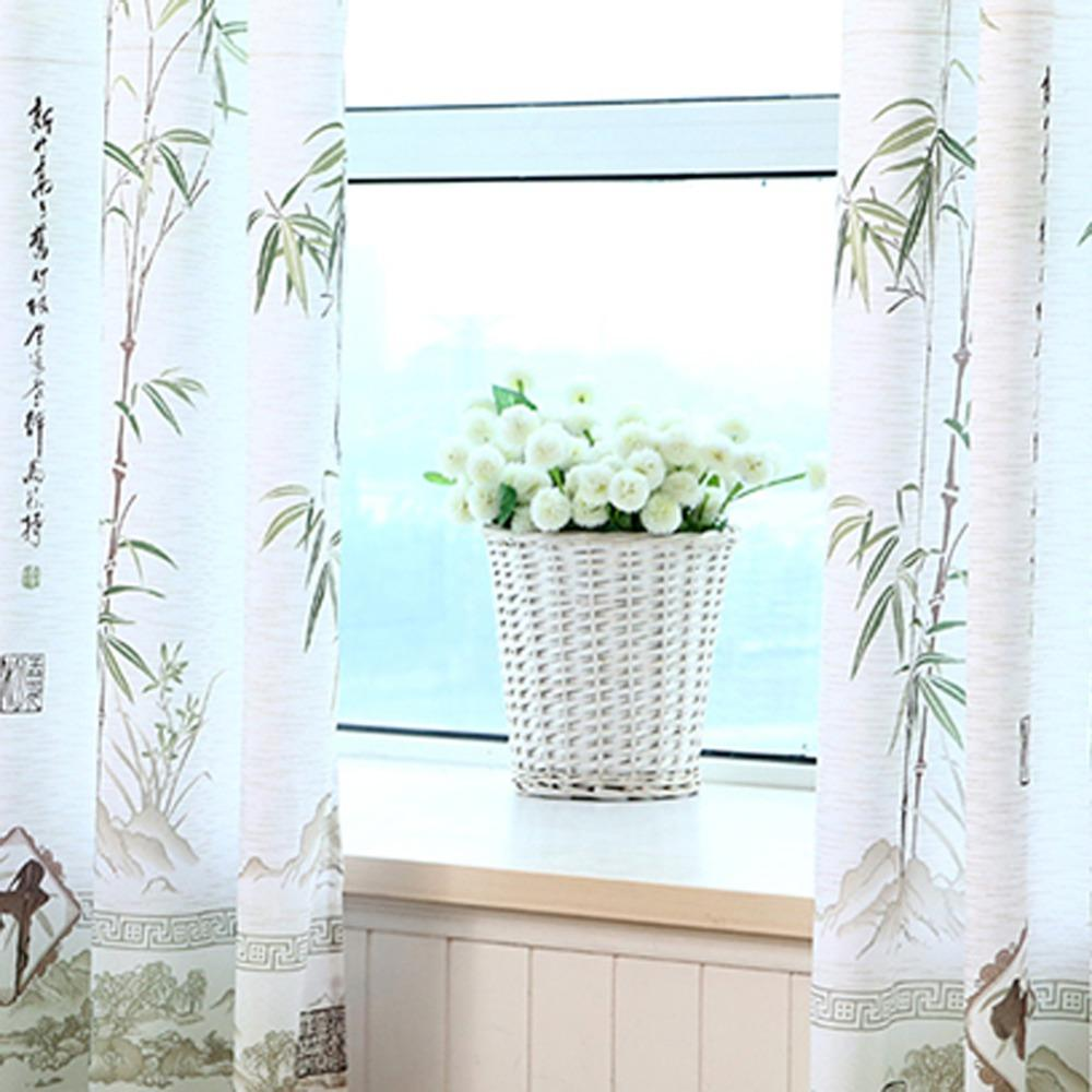Cheap Bamboo Curtain Cloth for Living Room Window Screening Tulle ...