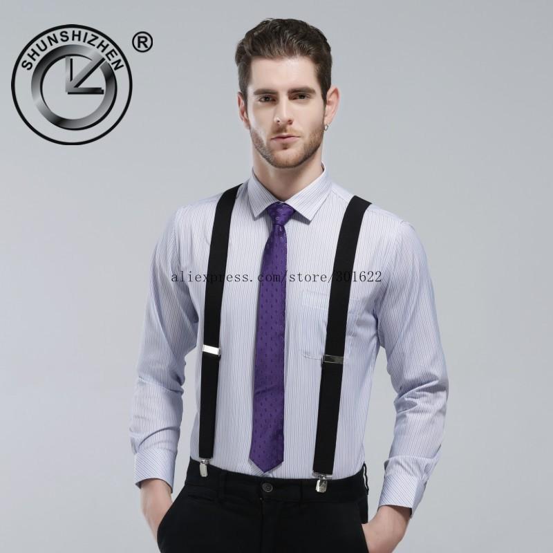 UNISEX TROUSER SUSPENDERS Adjustable Slim  Braces Y Clip On Fancy Dress Men B3