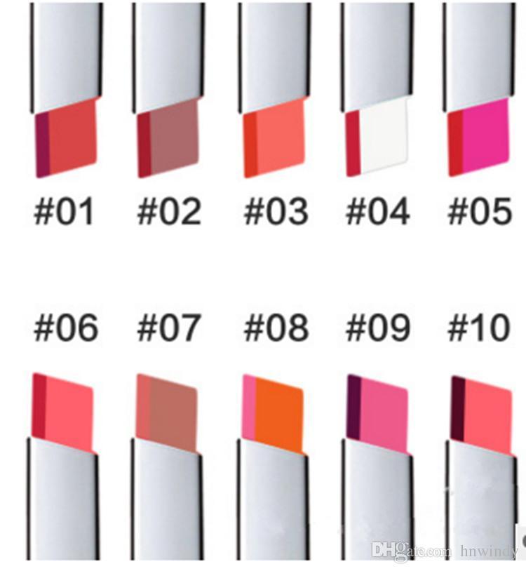 TUTU Lápiz labial de doble color Lápiz labial de larga duración degradado 14 Brillo de color Corea Lápiz labial de maquillaje Lápiz labial a prueba de agua resistente al agua Maquillaje