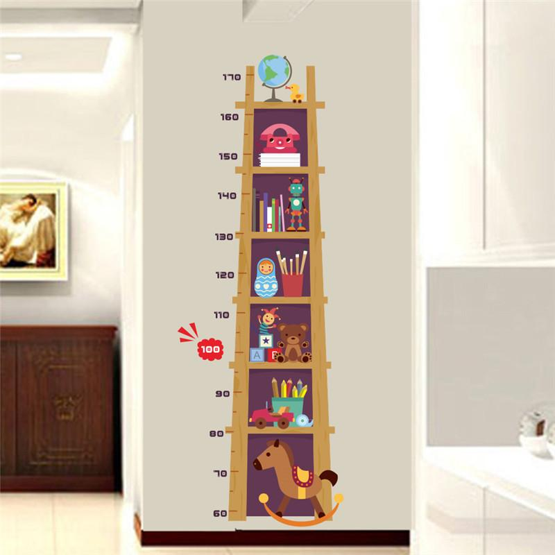 children height measure wall sticker for kids rooms 3d vivid