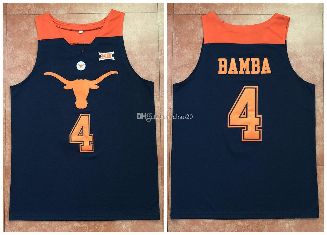 b610a0913 2019  4 Mohamed Mo Bamba Texas Longhorns College Navy Blue Retro Classic Basketball  Jersey Mens Stitched Custom Any Number And Name Jerseys From Abao20