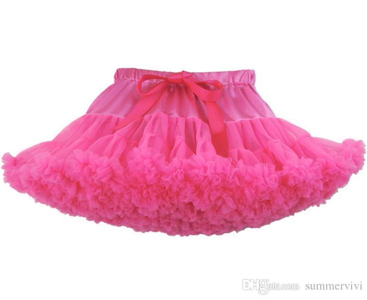 Girls ruffle tutu skirts Children ribbon Bows stain tulle tutu skirts kids lace princess party skirt children bottoms R2656