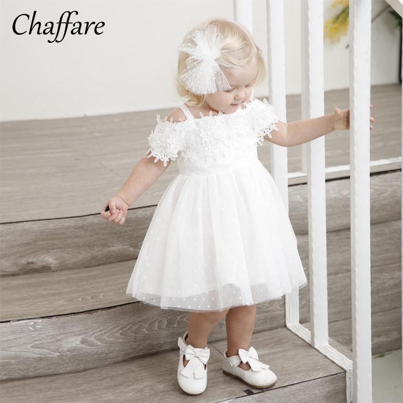 f440a9a5fe16 2019 Chaffare Baby Girl Dresses Infant Girls Baptism Dress White ...