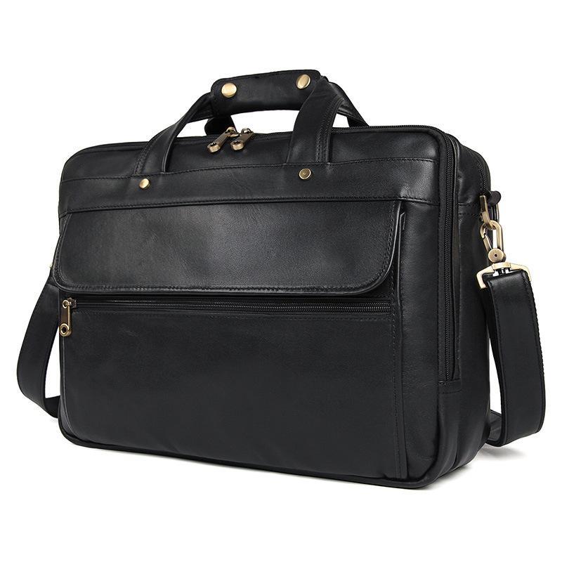 0c5c09b7a391 Cowhide Vintage Travel Large Briefcase Fashion Business Tote Handbag Men S  Shoulder Laptop Bag Classic Genuine Leather Briefcase Laptop Cases  Messenger Bags ...