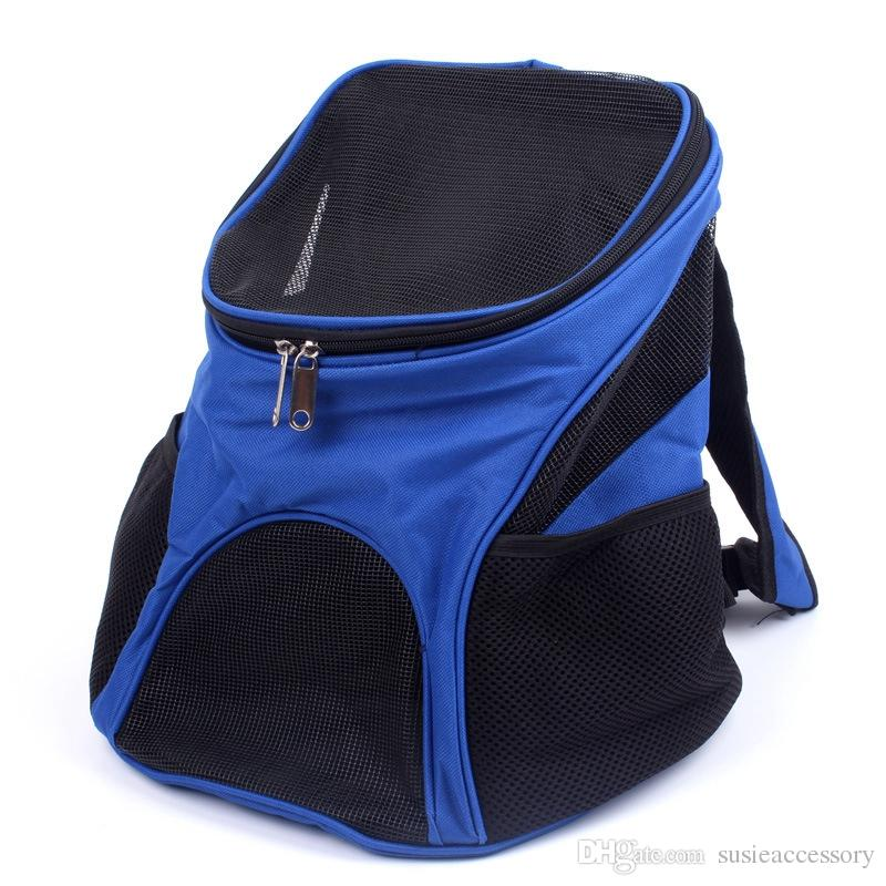 2018 breathable mesh pet backpack oxford dog carrier portable outdoor cat carriers double shoulders backpacks small pets carrying bag from susieaccessory