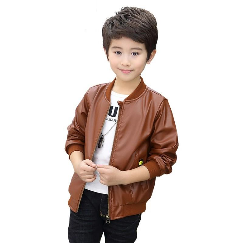 6e0a2c06f Kids Clothes Baby Boys Leather Jackets 2018 Autumn Winter Fashion O ...