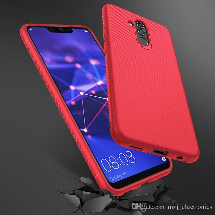 check out 2ecdb cdefb For Huawei Mate 20 Lite Twill Texture Silicone Protection Half-wrapped Cell  Phone Case with free shipping