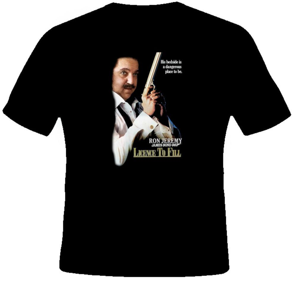 Großhandel Ron Jeremy Funny 007 Lizenz Zu Füllen Porn T Shirt3D