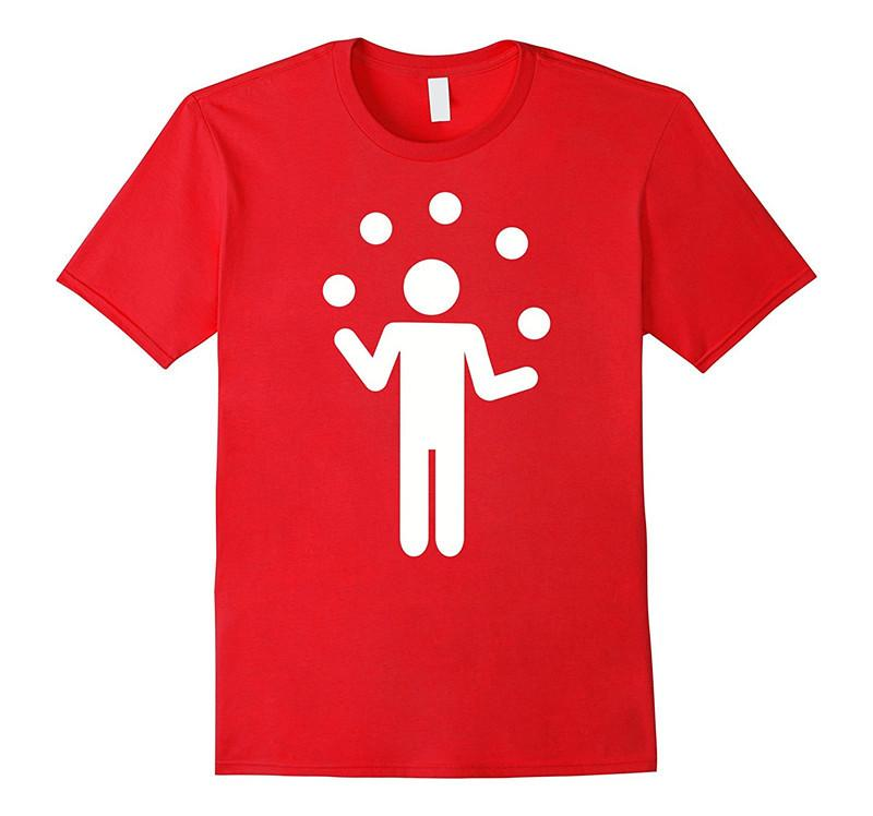 Customised T Shirts Make T Shirts Short O Neck Tall Juggling Symbol