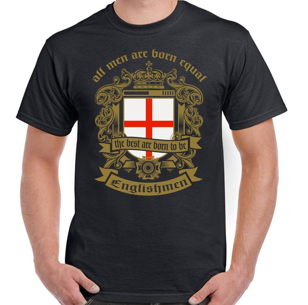 Hombre Are Born IGUAL Inglés Camiseta Bandera Inglaterra Fútbol St. JORGE  Día Shirt Shirt Novelty Tee Shirts From Amesion42 212993537a29b