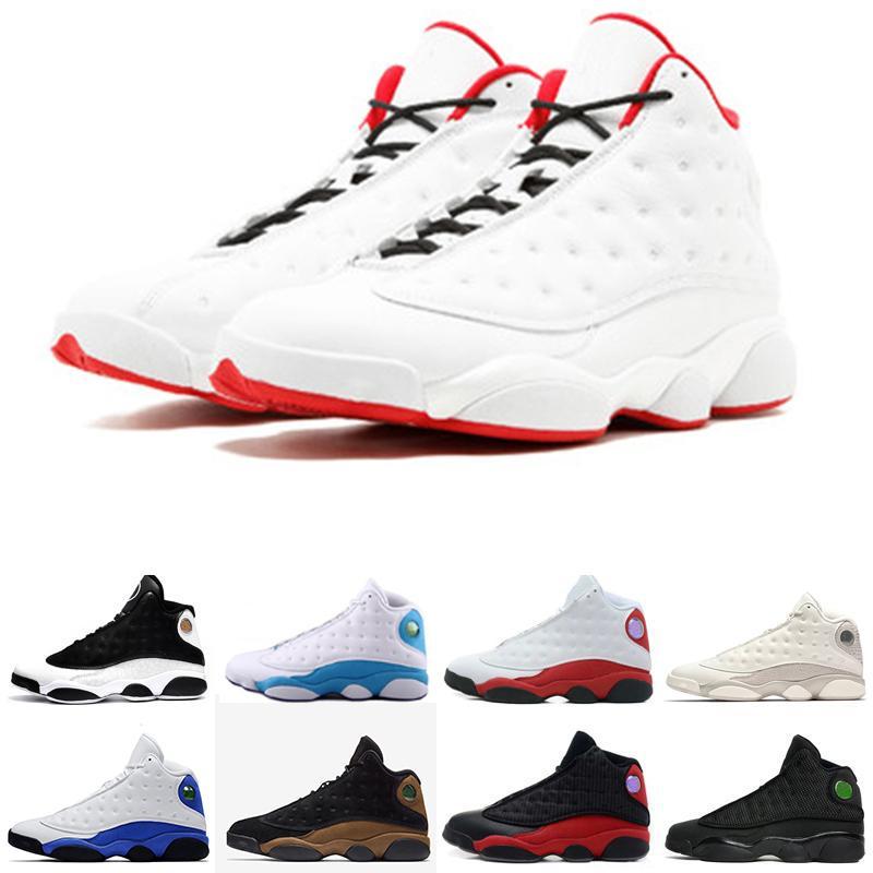 sports shoes 0f25a f20ef Retro Air Jordan 13 AJ13 Nike Caliente Sneaker 13s Chicago Criado Zapatos  Para Hombre Gato Negro Hombres Zapatos Deportivos Barones Fantasmas De  Descuento ...