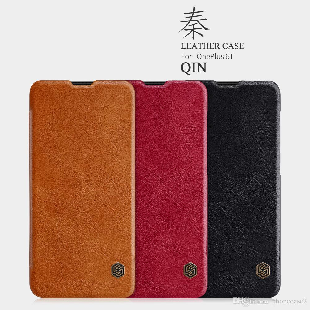 nillkin oneplus 6t  Leather Case For Oneplus 6T Nillkin QIN Protective Flip Cover Case ...