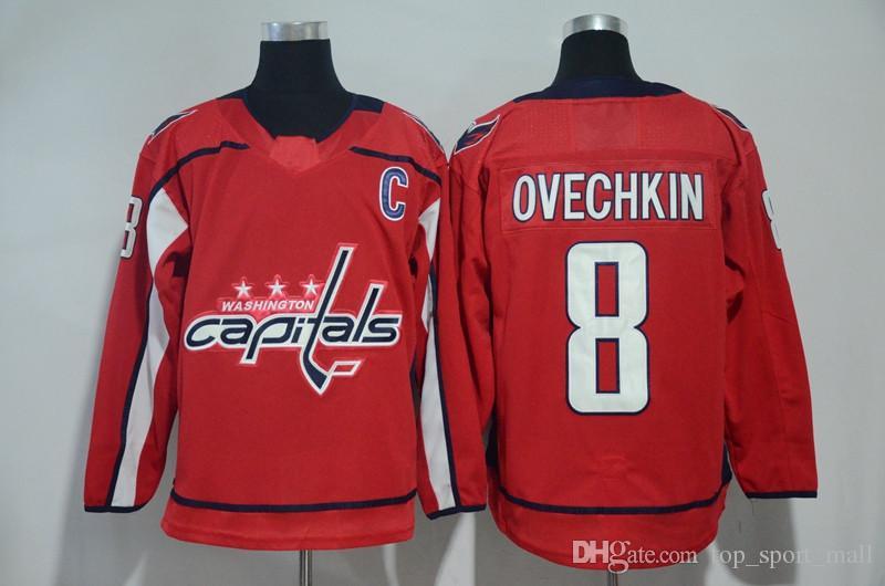 Reverse Retro Washington 대문자 Alexander Alex Ovechkin Jersey Hockey Tom Wilson Oshie Evgeny Kuznetsov Nicklas Backstrom Henrik Lundqvist