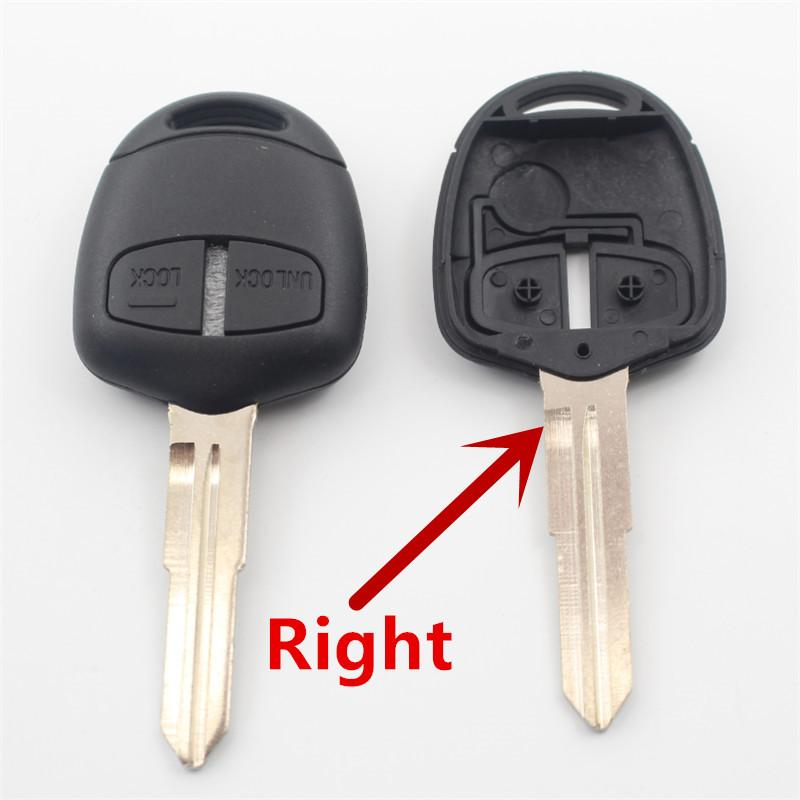 XIEAILI 50Pcs Replacement Case 2B Remote Key Fob Shell For Mitsubishi Pajero/Triton/Lancer/Grandis/Outlander With Sticker G14