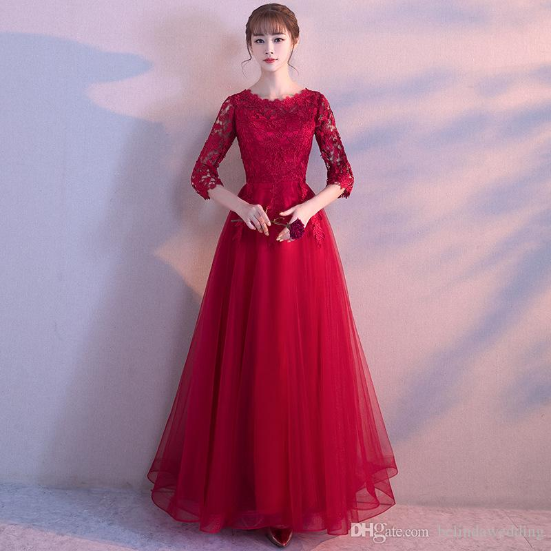 Weddings & Events Diligent Muslim Evening Dresses 2019 A-line Long Sleeves Pearls Lace Islamic Dubai Kaftan Saudi Arabic Long Formal Evening Gown