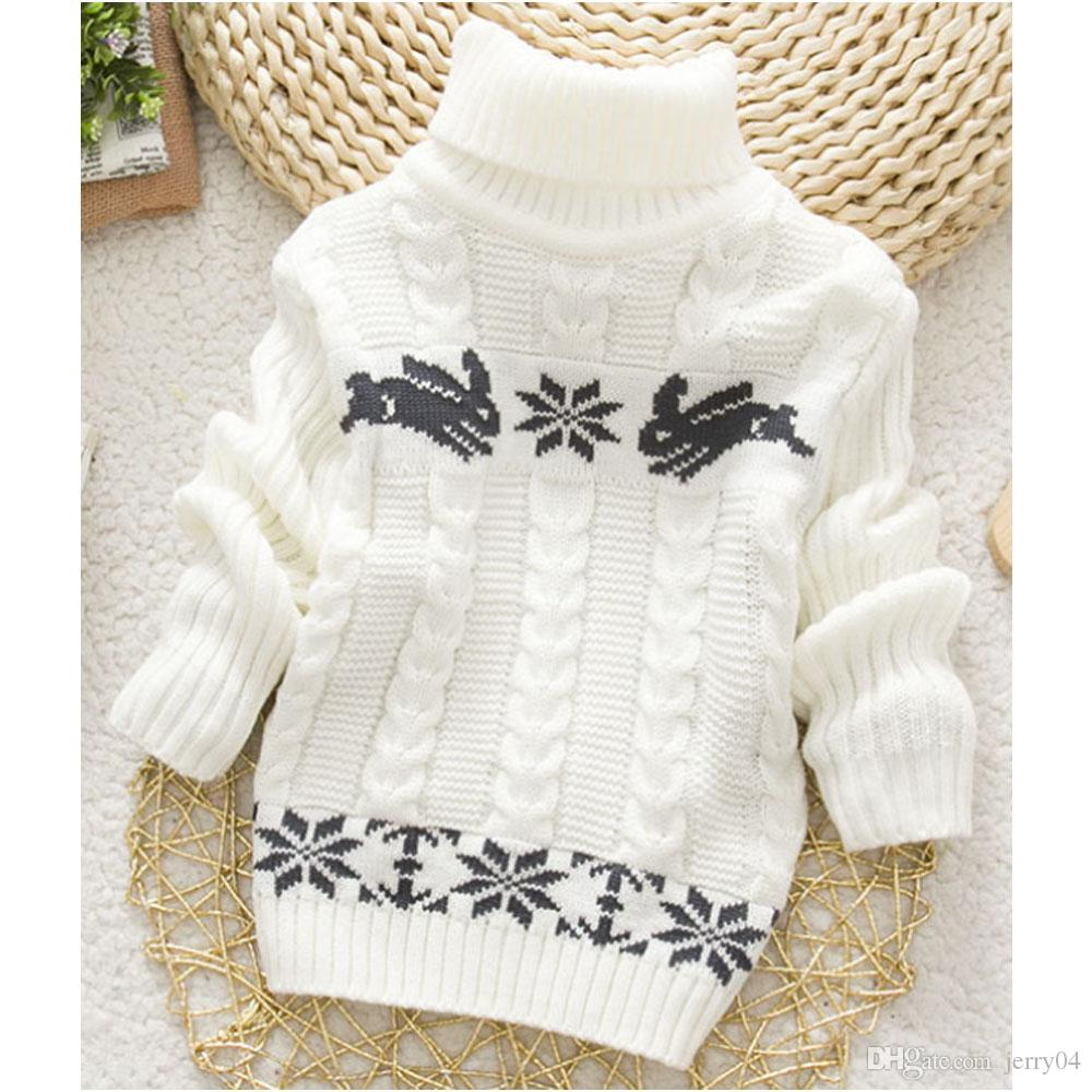 ce661d8a4 2018 New Winter Kids Infant Baby Cartoon Sweater Girls Clothes Child ...