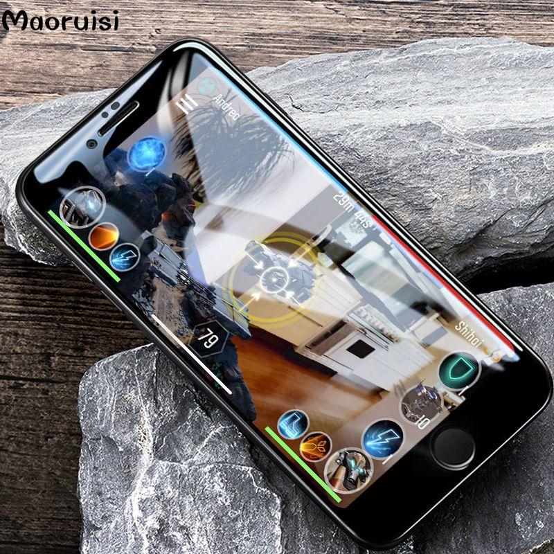 89fb08a2b69 Proteccion De Pantalla Protector De Pantalla Película Protectora Versión  Premium En El IPhone 6 6s 7 8 Plus X 0.3 Mm 9H Fibra De Carbono 3D Vidrio  Templado ...