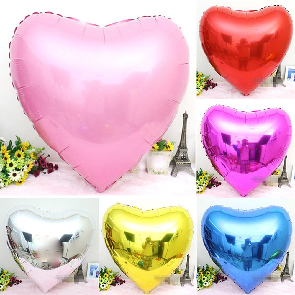 Aluminum Balloons 10 Wedding Decor Inflatable Heart Balloons Party ...